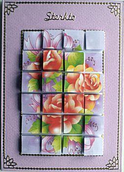 Blokjeskaart rozen