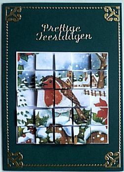 Blokjeskaart voor de kerstdagen