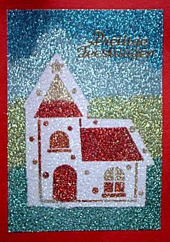 Kerkje met zandstrooien